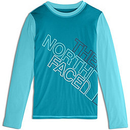 The North Face Long Sleeve Amphibious Tee - Girl's, Algiers Blue, 256