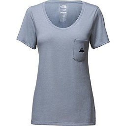 The North Face Short Sleeve Tri-Blend Pocket Tee - Women's, Dusty Blue Heather, 256
