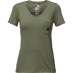 The North Face Short Sleeve Tri-Blend Pocket Tee - Women's, Four Leaf Clover Heather, 256