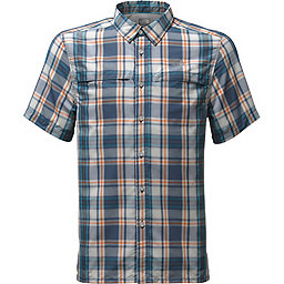 The North Face Short Sleeve Vent Me Shirt - Men's, Shady Blue Plaid, 256
