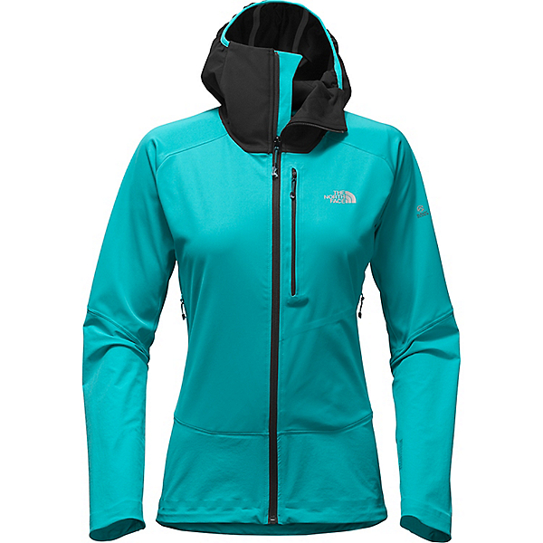 The North Face Summit L4 Windstop Softshell Hoodie - Women's, Bluebird-TNF Black, 600