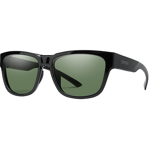 Smith Ember Sunglasses, Black-Polarized Gray Green, 600