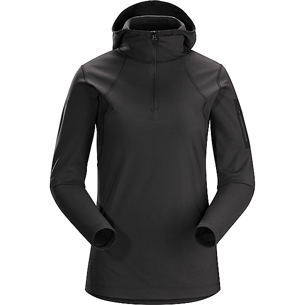 Arcteryx Rho LT Hooded Zip Neck - Women's - LG/Black, Black, 600