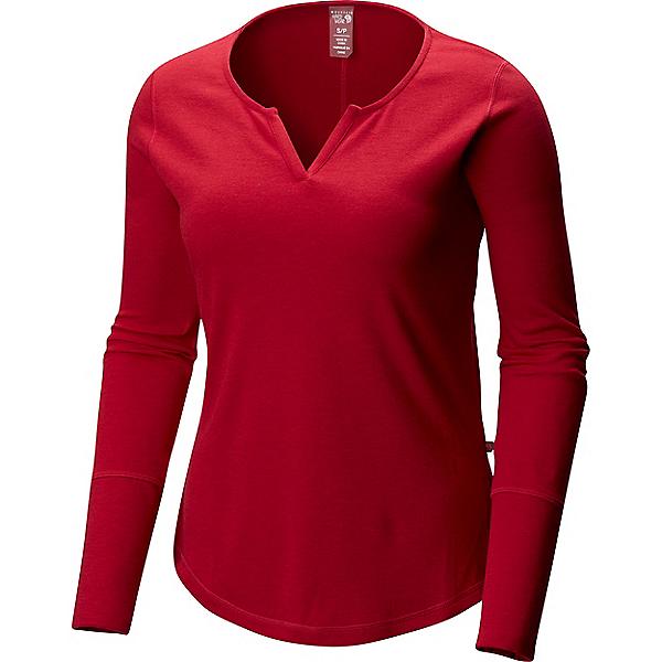 Mountain Hardwear Daisy Chain Split Neck Long Sleeve - Women's - LG/Cranstand, Cranstand, 600