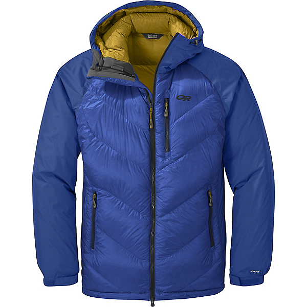 Outdoor Research Alpine Down Hooded Jacket - Men's - MD/Sapphire, Sapphire, 600