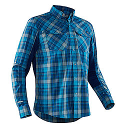 375ac3985d5 NRS Guide Fishing Shirt Long Sleeve Men, Blue Plaid, 256