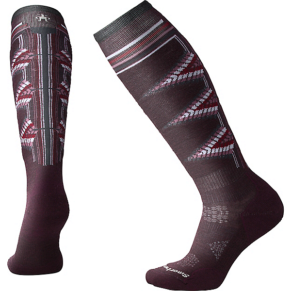 Smartwool PhD Ski Light Pattern - Women's, Bordeaux, 600