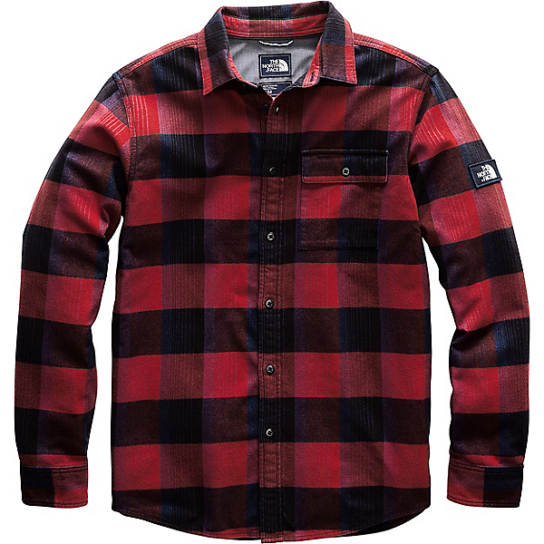 The North Face L/S Stayside Shirt - Men's - SM/Caldera Red Bowden Plaid, Caldera Red Bowden Plaid, 600
