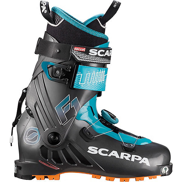 Scarpa F1 Ski Boot - 28.5/Anthracite-Pagoda Blue, Anthracite-Pagoda Blue, 600