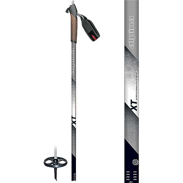 Alpina XT Ski Pole, Black-White-Grey, 600