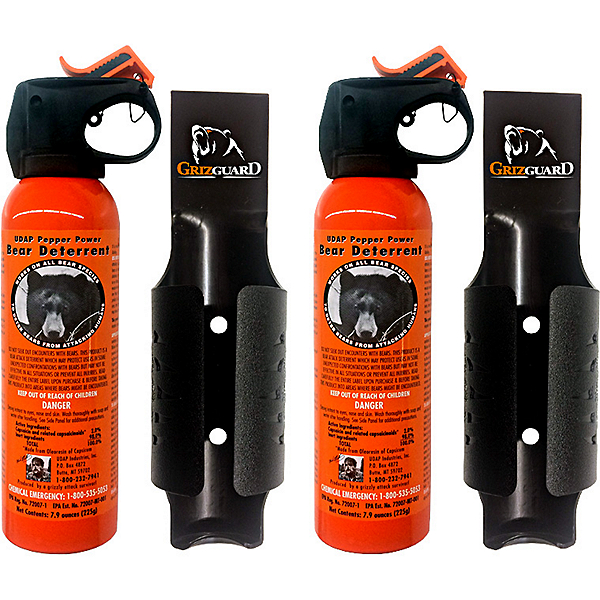 UDAP 7.9oz Safety Orange Bear Spray with GrizGuard Holster Two Pack, , 600