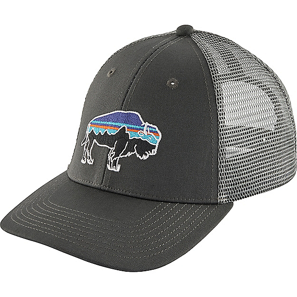 Patagonia Fitz Roy Bison LoPro Trucker Hat - None/Forge Grey w-Feather Grey, Forge Grey w-Feather Grey, 600