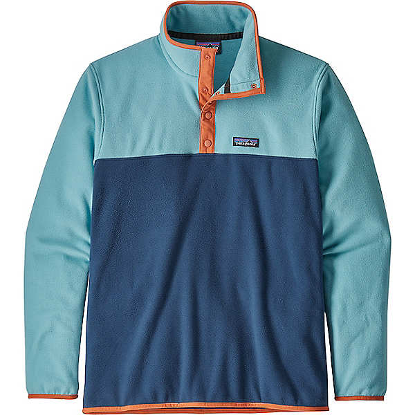 Patagonia Micro D Snap-T P/O - Men's - LG/Stone blue w-Dam Blue, Stone blue w-Dam Blue, 600