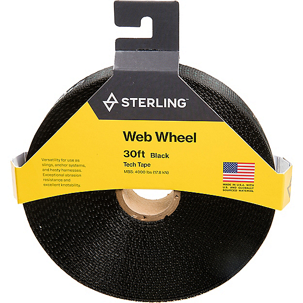 "Sterling 1"" TechTape Web Wheel, Black, 600"