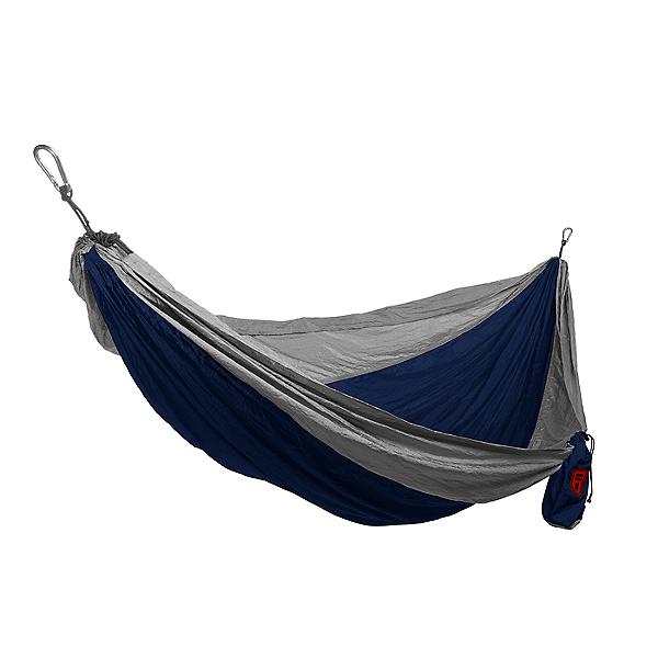 Grand Trunk Double Parachute Nylon Hammock, Navy/Silver, 600