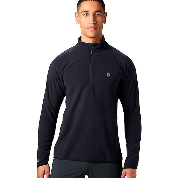 Mountain Hardwear Macrochill 1/2 Zip - Men's, Black, 600