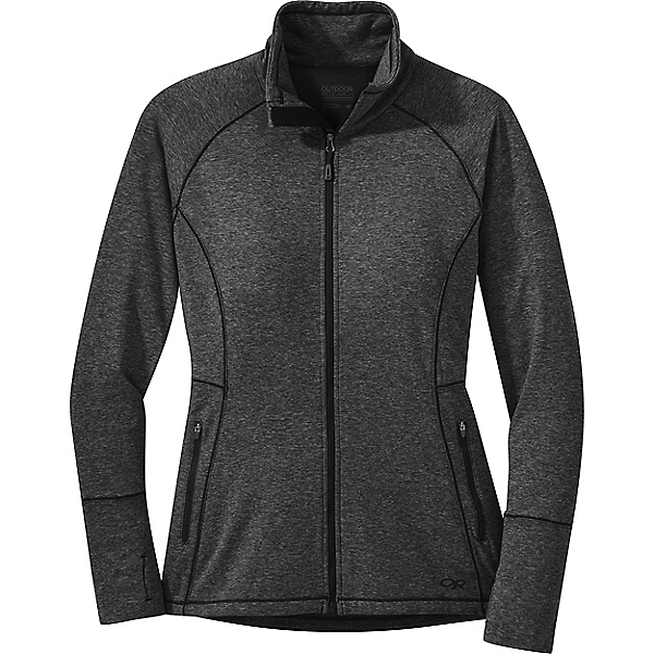 Outdoor Research Melody Full Zip - Women's - MD/Black Heather, Black Heather, 600