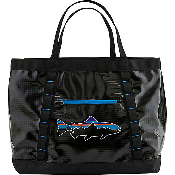 Patagonia Black Hole Gear Tote, Black w-Fitz Trout, 600