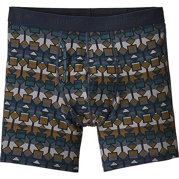 Patagonia Essential Boxer Briefs 6 in. - Men's - XL/Cedar Mesa-New Navy, Cedar Mesa-New Navy, 600
