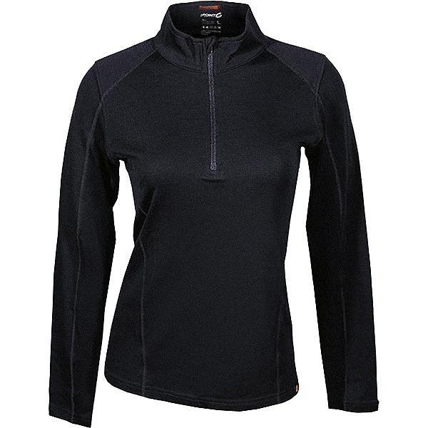 Point6 Merino Mid Baselayer 1/4 Zip - Women's, Black, 600