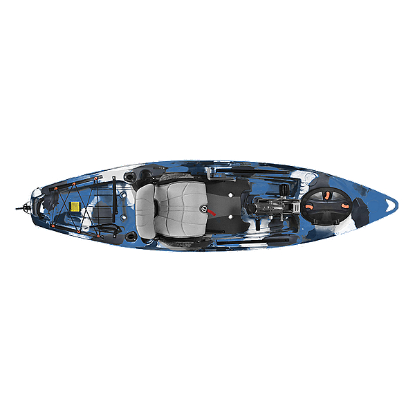 Feelfree Lure 11.5 Kayak with Overdrive Pedal Drive, Blue Camo, 600