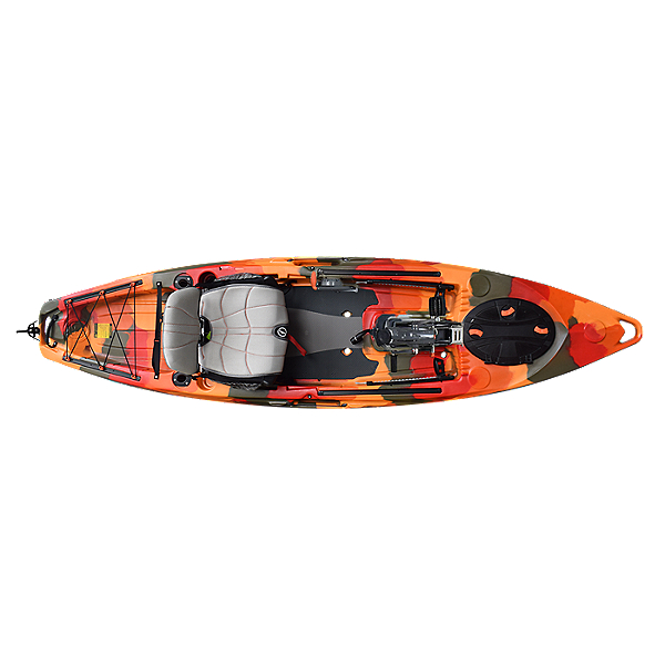 Feelfree Lure 11.5 Kayak with Overdrive Pedal Drive Fire Camo, Fire Camo, 600