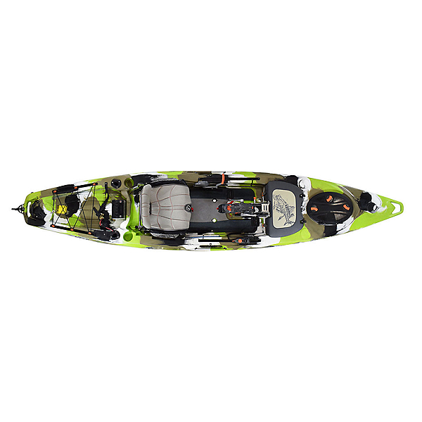 Feelfree Lure 13.5 Kayak with Overdrive Pedal Drive Lime Camo, Lime Camo, 600
