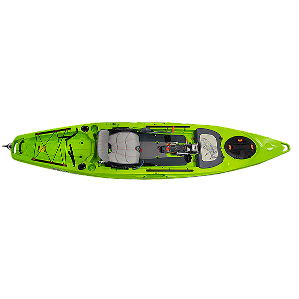 Feelfree Lure 13.5 Kayak with Overdrive Pedal Drive, Solid Lime - Limited Edition, 600