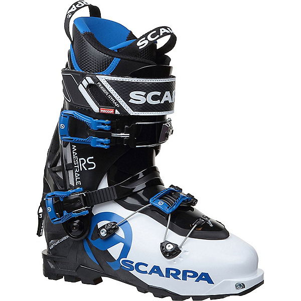 Scarpa Maestrale RS Ski Boot, White-Black-Blue, 600