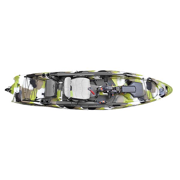 Feelfree Dorado 125 Kayak with Overdrive Pedal Drive, Lime Camo, 600