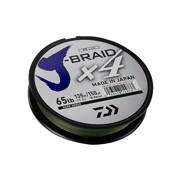 Daiwa J-Braid X4 Braided Line - 65lb, , 600