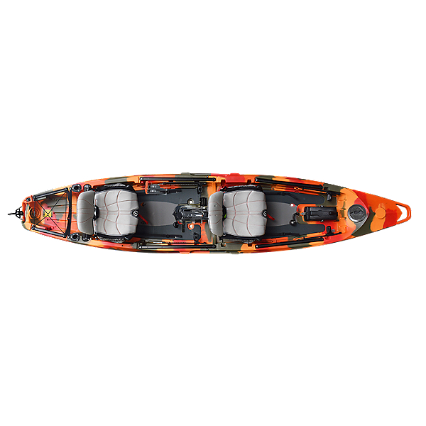 Feelfree Lure II Tandem Kayak with Overdrive Pedal Drive, Fire Camo, 600