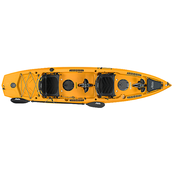 Hobie Mirage Compass Duo Tandem Kayak 2019, Papaya Orange, 600