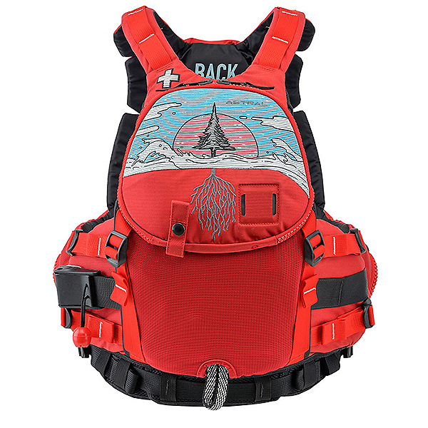 Astral GreenJacket LE10 River Roots Pullover Life Jacket, RUBY RED, 600
