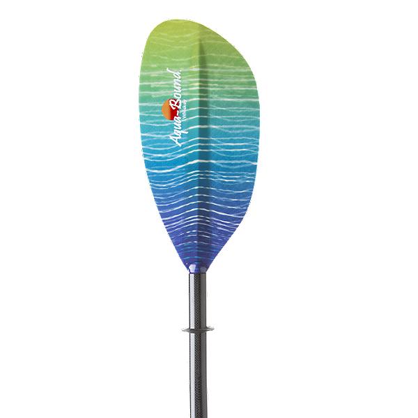AquaBound Whiskey Fiberglass Bent Shaft Kayak Paddle, Sunwave, 600