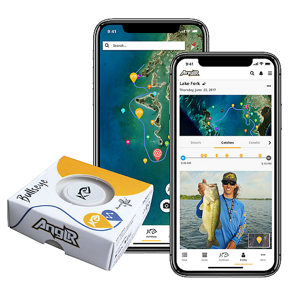 ANGLR Bullseye Fishing Tracker Apparel Clip Free Fishing GPS App