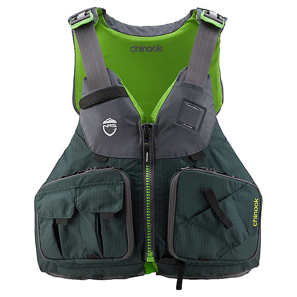 NRS Chinook Fishing Life Jacket - PFD, Bayberry, 600