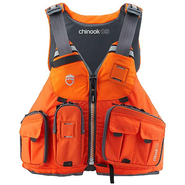 NRS Chinook OS Fishing Offshore Life Jacket 2021 - PFD, Orange, 600