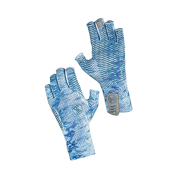 Buff Aqua Gloves, Pelagic Camo Blue, 600