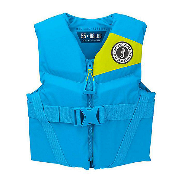 Mustang Survival Rev Youth PFD - Life Vest Azure, Azure, 600