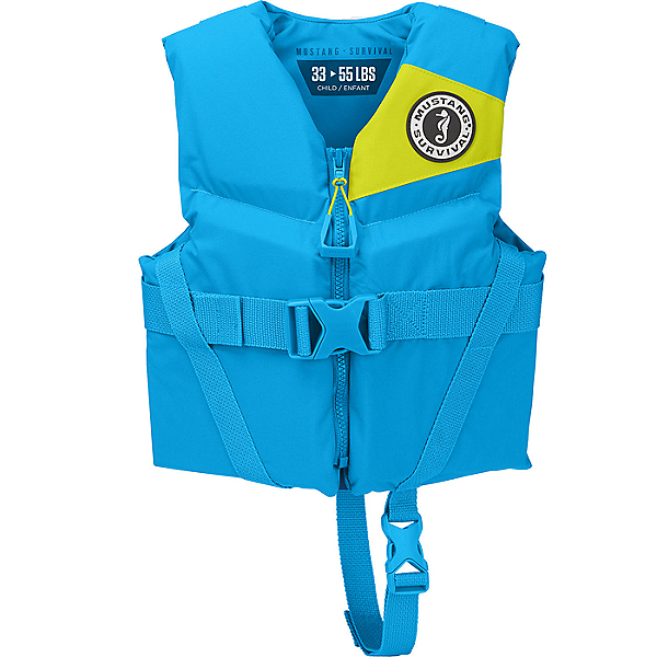 Mustang Survival Rev Child PFD - Life Vest, Azure, 600