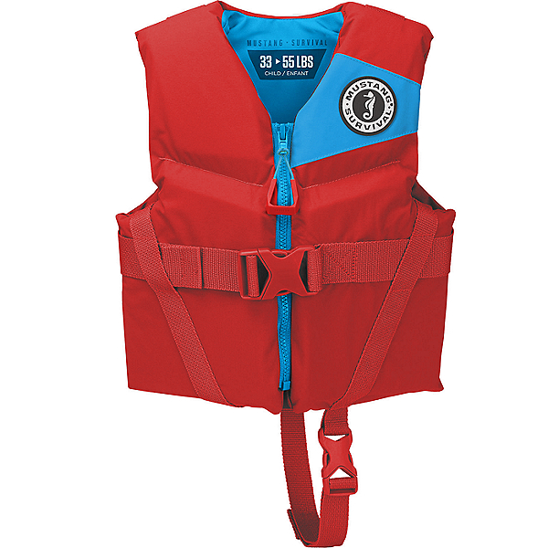 Mustang Survival Rev Child PFD - Life Vest Imperial Red, Imperial Red, 600