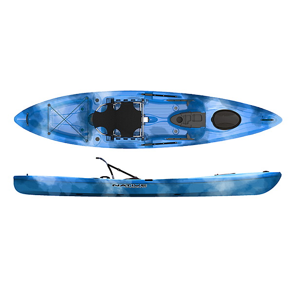 Native Watercraft Manta Ray 12 XT Kayak, Blue Ice, 600