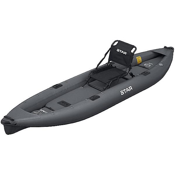 STAR Pike Inflatable Fishing Kayak, Gray, 600