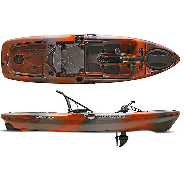 2020 Native Watercraft Slayer 10 Propel Kayak, Copperhead, 600