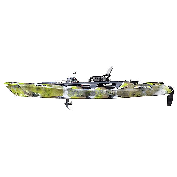 Feelfree Dorado 125 Kayak with Overdrive and 8Ball Steering 2021 Lime Camo, Lime Camo, 600