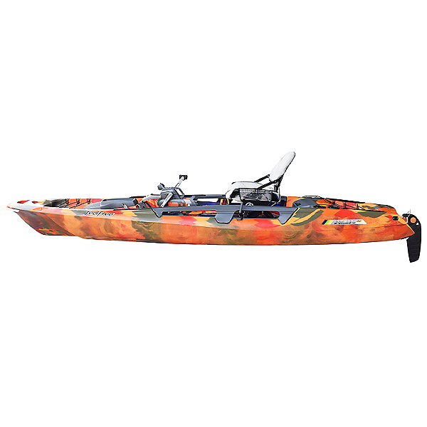 Feelfree Dorado 125 Kayak with Overdrive and 8Ball Steering, Fire Camo, 600