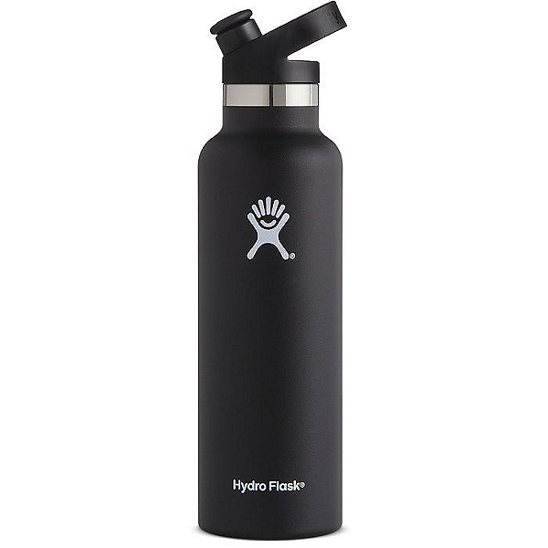 Hydro Flask 21 oz. Standard Mouth Bottle with Sport Cap, Black, 600