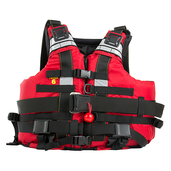 Force 6 Swift Water RescueTec Life Jacket - PFD Red - L/XL, Red, 600