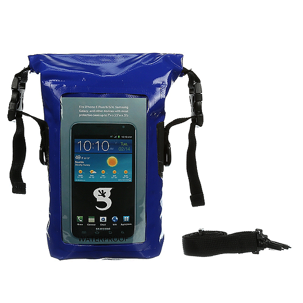 Geckobrands Waterproof Phone Tote, Royal Blue, 600